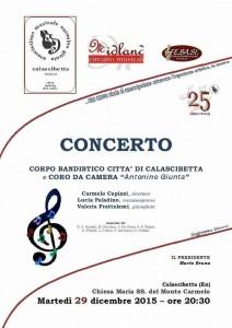 Concerto Banda con coro_ dicembre 2015