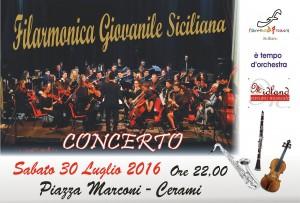 Locandina Filarmonica Cerami 30 Luglio 2016