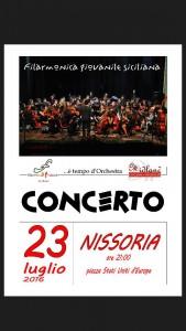 Locandina  Filarmonica _ Nissoria_23 Luglio 2016